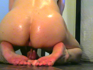 Oiled Sissy Looking for Doms to Stuff Her Holes
