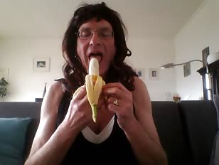 Louise Eating Banana
