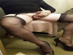 Cumming Hard in My FFs Stockings