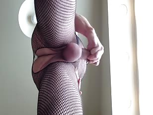 Crossdresser Cums on His Favorite Dildo