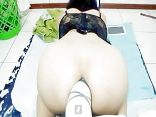 Massive Dildo Destroying My Sissy Ass