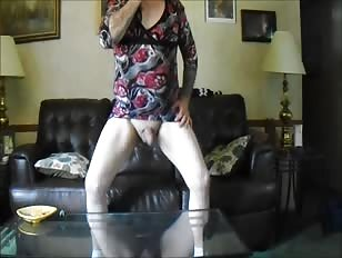 Horny Crossdresser Wanks and Fucks Ass Home Alone