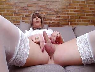 Lovely Sissy Wanks Her Little Dick