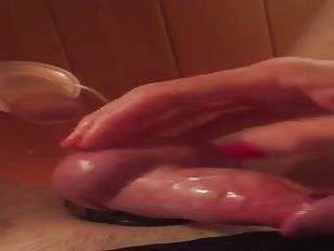 Tessa Playing with Wall Mounted Dildo