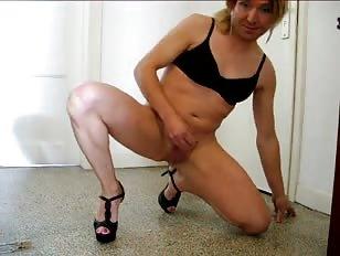 Wanking my Sissy Cock